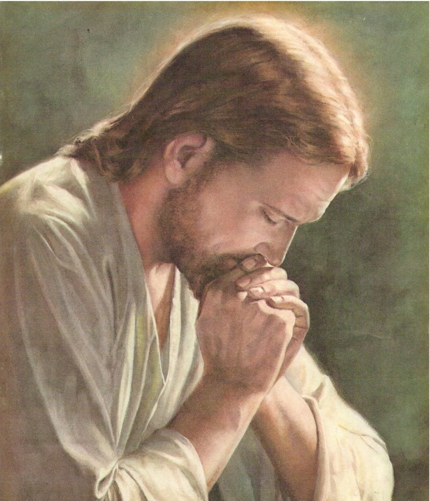 Jesus Christ praying for release of symptoms of depression for me
