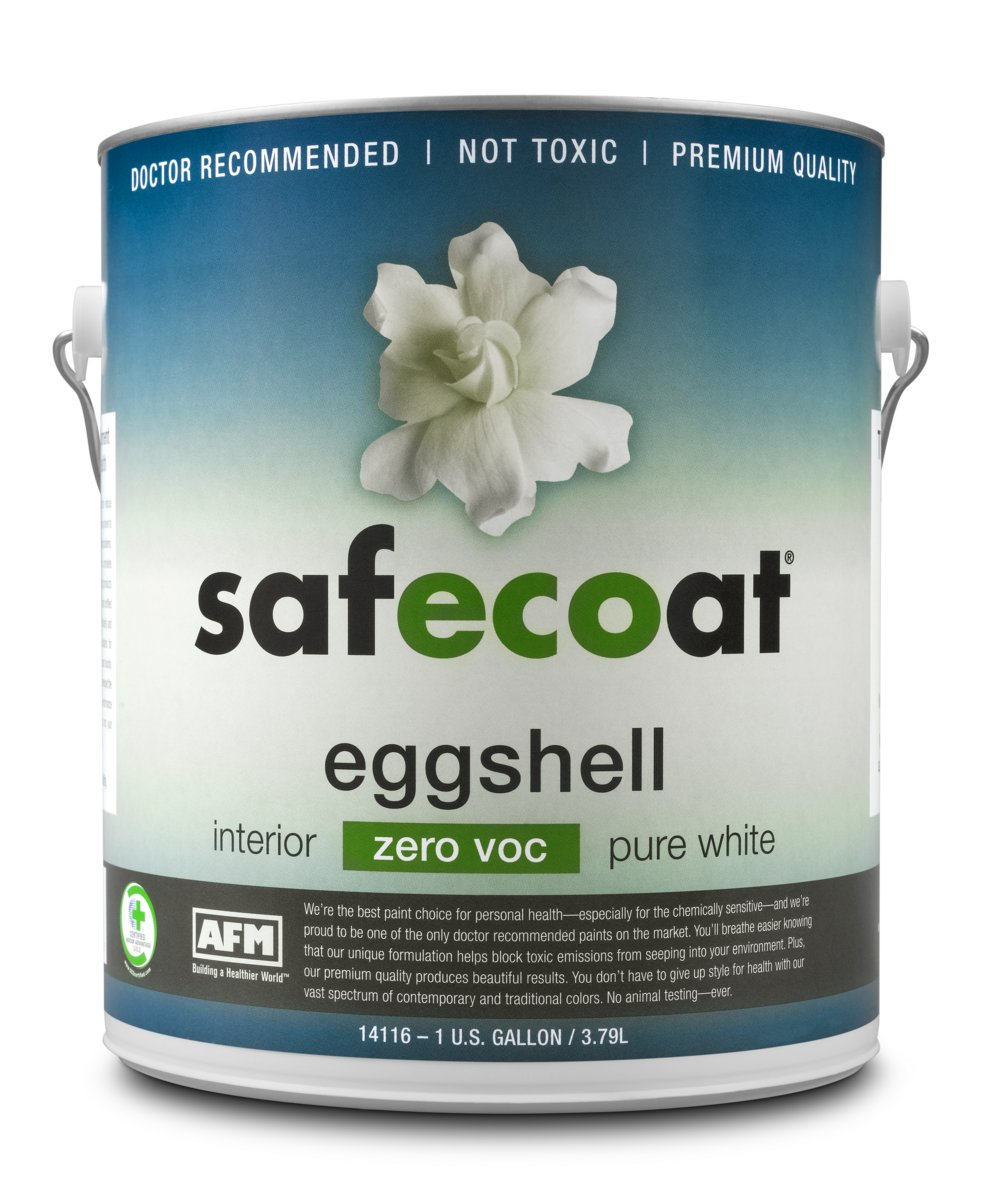 AMF Safecoat eggshell paint can for touchup painting